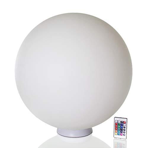 Arnusa LED Kugelleuchte mit Fernbedienung 16 Farben Kugellampe D:50cm Schwimmlampe Stimmungsleuchte