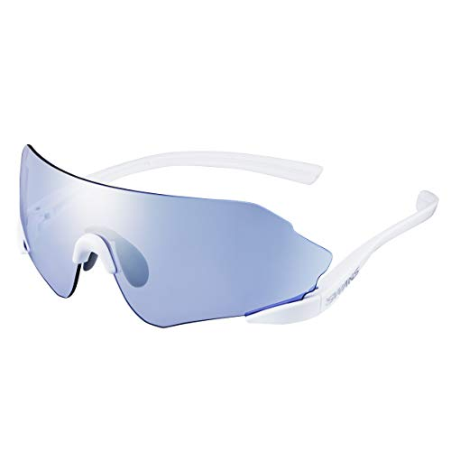 SWANS(スワンズ)日本製スポーツサングラスイーノックスニューロン20E-NOXNEURON20(マラソンランニング陸上競技用)ENN20-0714_SPW0714SPWスーパーホワイト/シルバーミラー×ULTRAアイスブルー