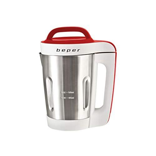 BEPER Soup Maker 1,6 Litri, Metallo, Multicolore, 21 x 21 x 35 cm