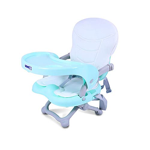 Best Deals! Space Saver Highchairs Foldable High Chair Removable Baby Highchair Infant Tray Travel B...