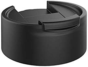 NuRich Black Wide Mouth Coffee Flip Lid Compatible with Hydro Flask Water Bottles