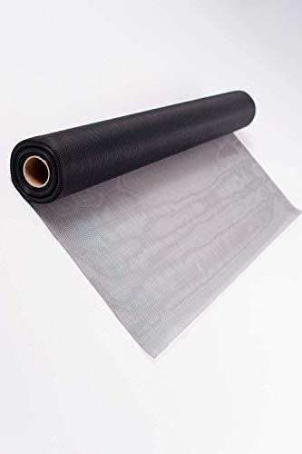 TESO Insektenschutz Gaze - Fliegengitter - Schutz gegen Mücken - Durchsichtiges Fiberglasgewebe, UV-beständig (200 x 200 cm, schwarz)