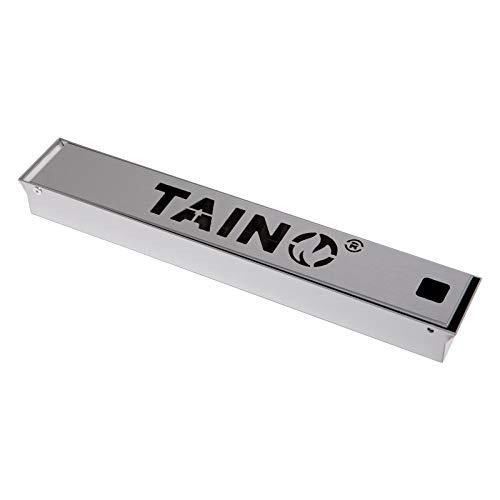 TAINO Räucherbox aus Edelstahl Smokerbox für Gasgrill, Holzkohlegrill und Elektrogrill Universal