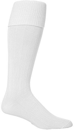 Jugendliche 1 Paar Peter Shilton Pro Aktion Fußball Socken - Weiß, 37-39 eur