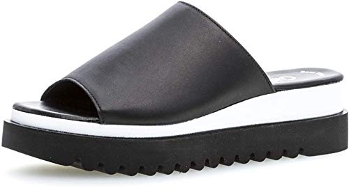 Gabor 23.613 Damen ClogsPantoletten,Clogs&Pantoletten, Frauen,Pantolette,Hausschuh,Pantoffel,Slipper,Slides,Best Fitting,schwarz,6.5 UK