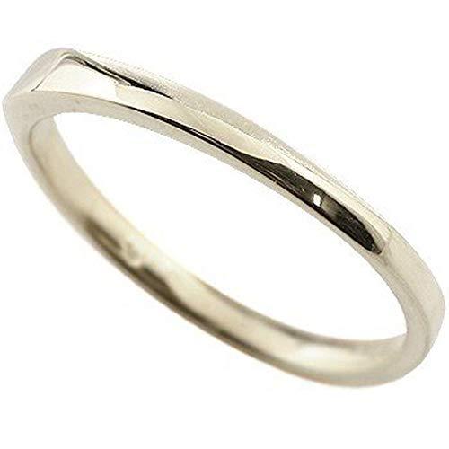 [アトラス]Atrus リング レディース 18金 ホワイトゴールドk18 指輪 地金 つや消し 宝石なし ピンキーリング 5号