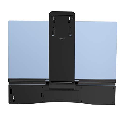 Balacoo 電話拡大鏡スクリーンアンプ引伸機モバイルプロジェクター、映画ビデオおよびゲーム用拡大鏡用スピーカー付き折りたたみ式スタンドサポート