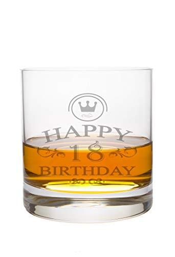 LEONARDO Whiskeyglas 18 Jahre Gravur - Geburtstag Geschenk Geschenkidee Whisky-Glas graviert