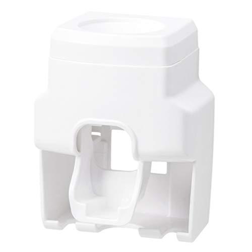 DOITOOL 1 Soporte de Cepillo de Dientes Montado en La Pared Soporte de Almacenamiento Multiusos Soporte de Cepillo de Dientes ABS para El Hogar (Blanco)