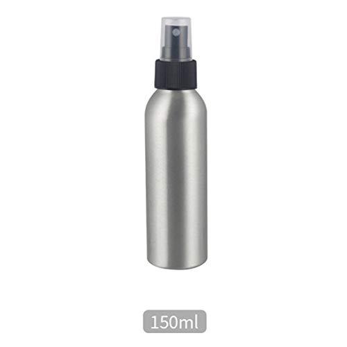 Ivyday - Dispenser di bottiglie vuote in alluminio, per cosmetici, da viaggio 150 ml nero