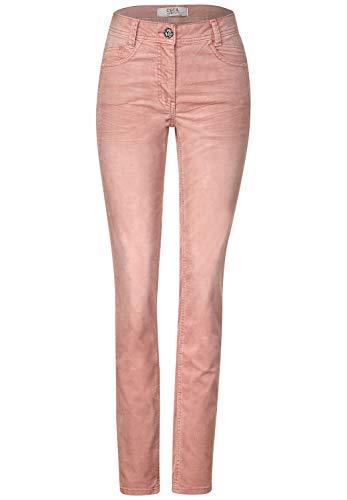 Cecil Damen Cord-Hose im Casual Fit Powder Rose 36 Lässige Passform, Regular Waist, Enge Beine, Cordhose, Jeans Style GESA