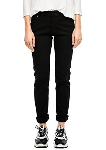 s.Oliver Damen 04.899.71 Slim Fit Jeans, Black, 44W / 32L