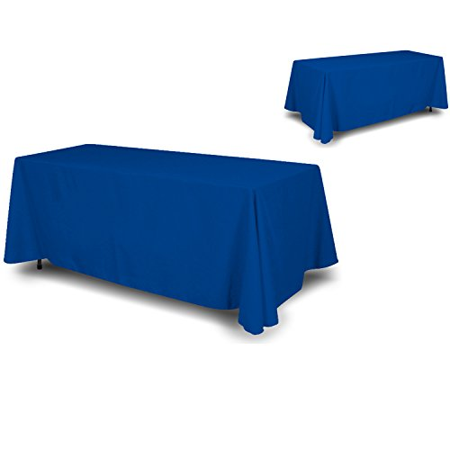 """Wall26 4 Sided Full Back Blue Tablecloth / Table Cover / Throw 