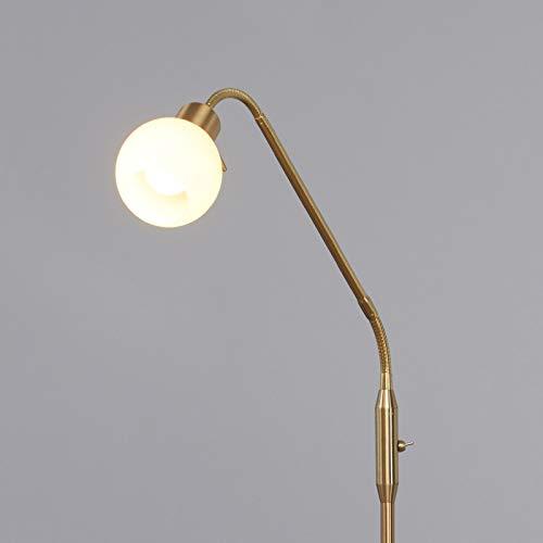 Lindby LED Stehlampe 'Elaina' in Gold/Messing aus Metall u.a. für Wohnzimmer & Esszimmer (1 flammig, E14, A+, inkl. Leuchtmittel) - LED-Stehleuchte, Floor Lamp, Standleuchte, Wohnzimmerlampe