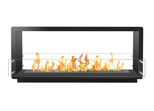 Best Buy! Bio Flame 60� Firebox Ds Double Sided 48� Burner Silver Fireplace