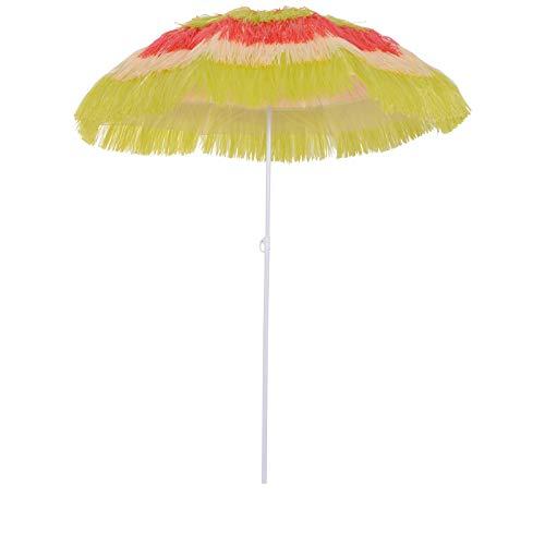 Outsunny Ombrellone da Giardino/Spiaggia/terrazzo, Stile Hawaii, colorato, Diametro: 160 cm…