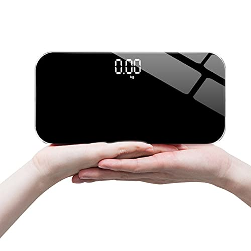 CGGDP Báscula Corporal Inteligente, Mini Balanza Electrónica para Maquillaje Báscula de Peso Recargable por USB Báscula Digital de Baño con Pantalla Oculta Báscula de Masa Corporal de Viaje Ligera
