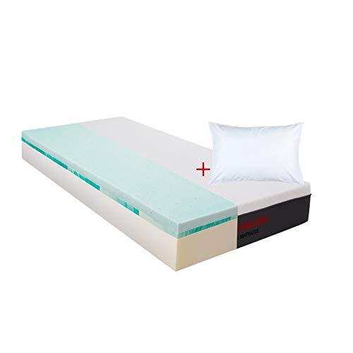 Matratzen Concord Colchón de espuma con doble sobrecolchón y almohada de 120 x 200 cm