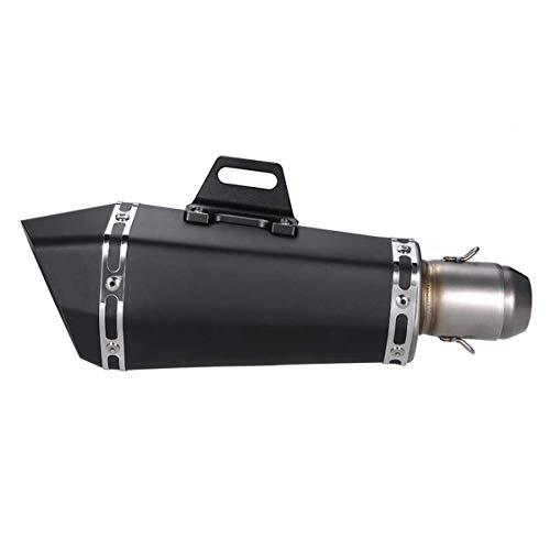 outingStarcase Enfriar Negro 51mm Tubo de Acero Inoxidable silenciador del Extractor for la Motocicleta ATV Universal, Accesorios de la Motocicleta Accesorios de la Motocicleta Kawasaki