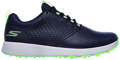 Skechers Herren Elite 4 Spikeless Oberleder Golfschuhe - Marine/Lime - UK 10