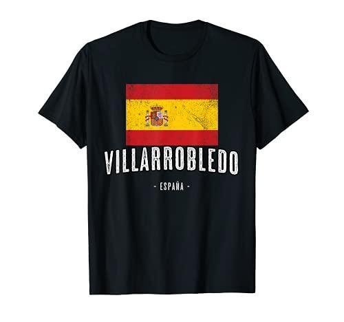 Villarrobledo España | Souvenir Linda Ciudad - Bandera - Camiseta