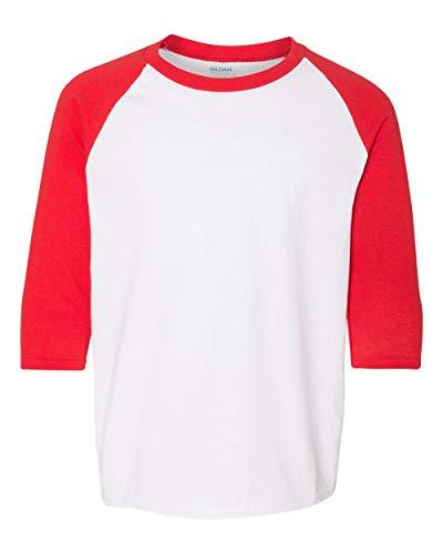 Gildan Heavy Cotton Youth 3/4 Sleeve Raglan T-Shirt 20F