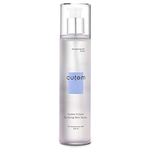 Skinmed Cutem Acure Purifying Skin Toner Sebum Control and Reduce Inflammation Instant 8H Hydration for Combination or Sensitive Acne Skin - 4.23 Fl Ounce