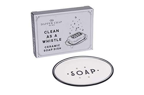 CGB Giftware Dapper Chap 'Clean as a Whistle' Classic Design Self Standing Raised Bar Soap Dish   Soap Organiser   GB04854