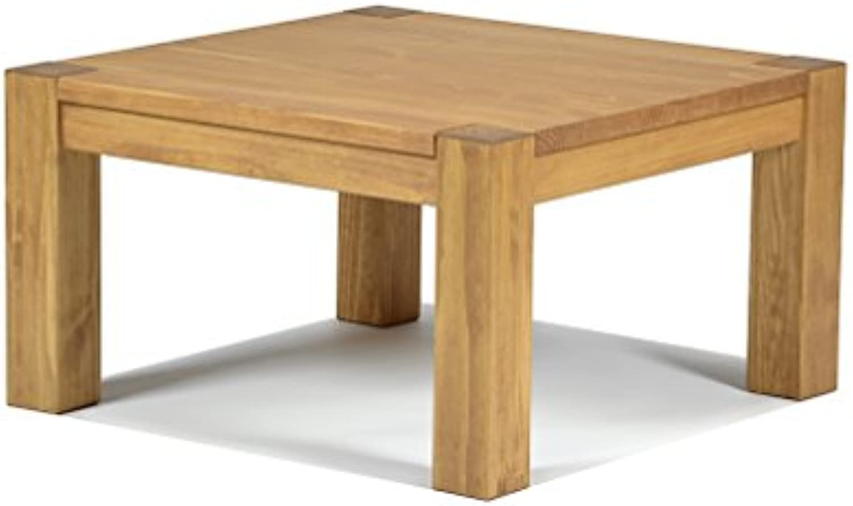 Naturholzmbel Seidel Couchtisch,Rio Bonito, 80x80cm Hhe 50 cm, Pinie Massivholz, gelt und gewachst, Wohnzimmer Tisch Farbton Honig hell