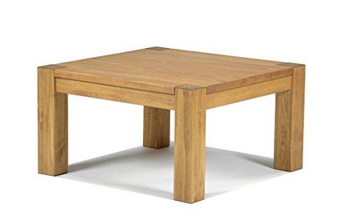Naturholzmöbel Seidel Couchtisch,Rio Bonito, 80x80cm Höhe 55 cm, Pinie Massivholz, geölt und gewachst, Wohnzimmer Tisch Farbton Honig hell