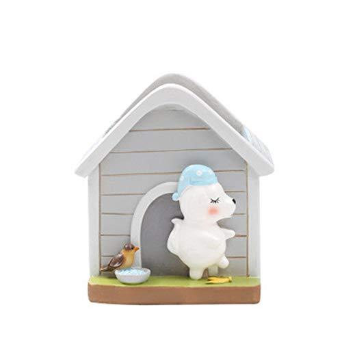 RongDuosi Puppy huisvorm bloempot creatieve cartoon slaapwandelen warme spruit thuis hars bloempot huisvorm bloempot beer sappige plantenpot. Fijne sieraden thuis decoraties voor de woonkamer