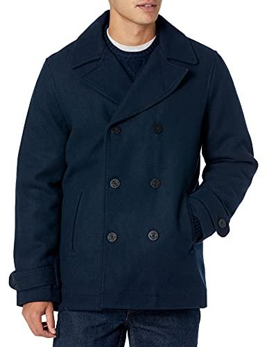Amazon Essentials Wool Blend Heavyweight Peacoat Outerwear-Coats, Marino, US XXL (EU XXXL-4XL)