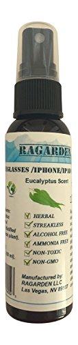 RAGARDEN Eyeglasses/iPhone/iPad Cleaner. Eucalyptus Floral Water. 2 oz Spray Bottle.