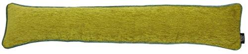 McAlister Textiles Alston Chenille   Schlichter zweifarbiger Zugluftstopper mit Füllung in Grün mit Enteneiblau   Deko Windstopper für Fenster, Türen