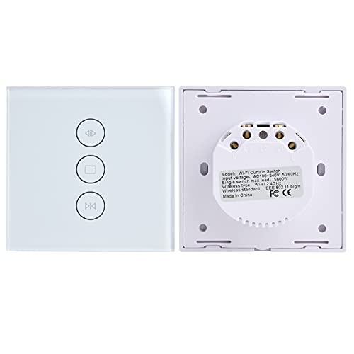 Interruptor de cortina WiFi, interruptor de cortina táctil WiFi inteligente conveniente para el hogar para cortina
