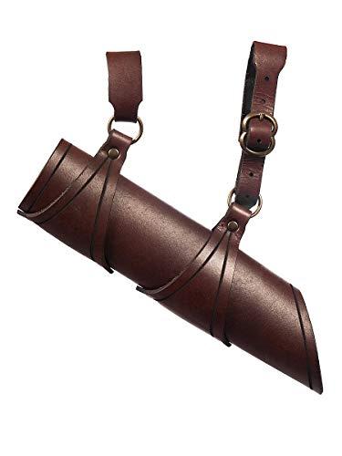 Andracor - Mittelalterlicher Schwerthalter - Schwertgehänge für Rechtshänder - Braun – Zubehör LARP Mittelalter Wikinger & Cosplay