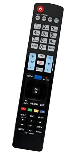 ALLIMITY AKB73756565 AKB74115502 Fernbedienung Ersatz für LG 3D TV 47LB650 39LB650 50LB650 55LB650 32LB650 42LB650 70LB650 60LB650