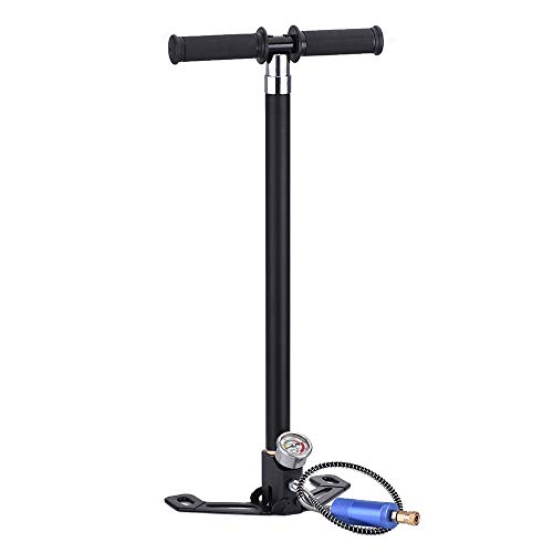 4YANG 4 Stage High Pressure Hand Pump High Pressure Air Gun Rifle Filling Stirrup Pump 40MPA Hand Pump Built-in Double-Deck Oil and Water Separator Pump, Up to 4500 psi