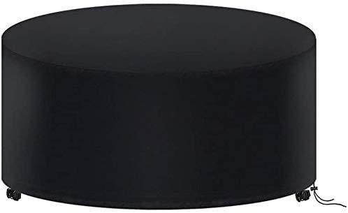 Housse de Protection Table Ronde de Jardin 230 X 100CM, Housse Salon de Jardin Imperméable, 420D Oxford Bache Protection Table Exterieur Ronde