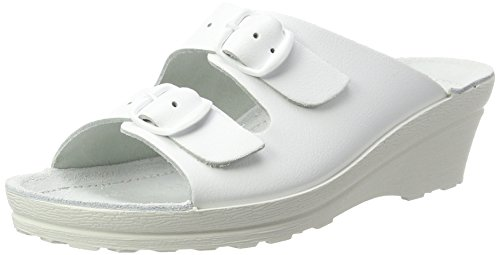 Beck Damen Klara Pantoletten, Weiß (Weiß 01), 39 EU
