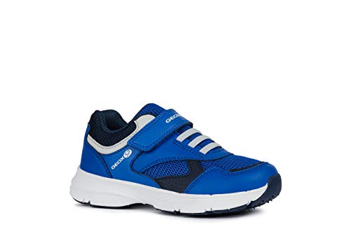 Geox Jungen Low-Top Sneaker HOSHIKO Boy J845GA Kinder Halbschuh,Sportschuh,Klettschuh, Klett-Verschluss,ROYAL/Navy,33