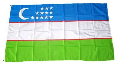 Flagge Fahne Usbekistan 90 x 150 cm FLAGGENMAE®