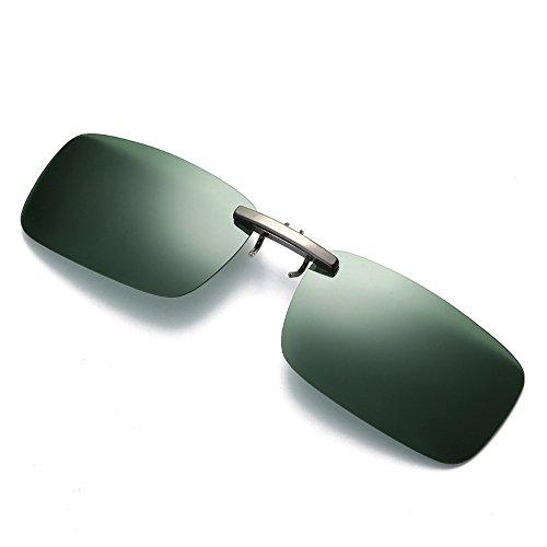 Clacce Brille Clip, Sonnenbrille Aufsatz Clip on Polarisiert Flip up Sunglasses gegen Licht ideal für Nachtfahr Frauen Männer Unisex Brillenträger