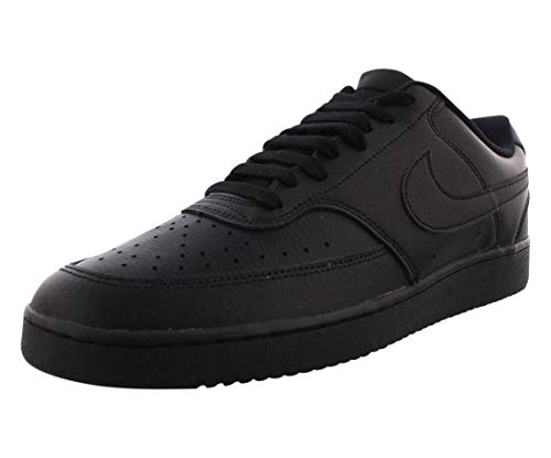 Nike Men's Court Vision Low Sneaker, Black/Black-Black, 9.5 Regular US