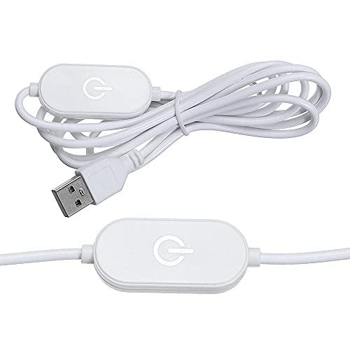 WFSH 1. 5M USB Toque Interruptor de luz Dimmer con/sin luz indicadora para DIRIGIÓ Lámpara de Mesa de Tira DC5V (Color : Without Indicator Light)