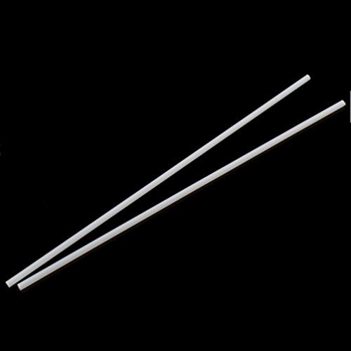 Kesheng 2X ABS Rundstangen Rundstäbe Kunststoffstäbe Weiß für Modellbau Architektur