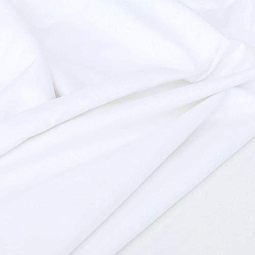 TOLKO Baumwollstoff | der Molton Stoff Klassiker zum Nähen Dekorieren | Oeko-Tex Baumwolle | 100% Bio | weich gerauhter MoltonStoff als Meterware | Nesselstoff Kleiderstoff Dekostoff