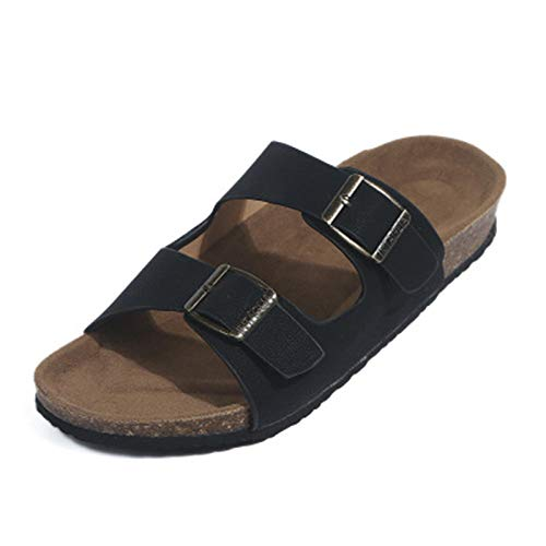 LXYYBFBD Sandalen Voor Vrouwen, Mode Dames Zomer Schoenen Sandalen Zwart Flats Flip Flop Leisure Beach Schoenen Kurk Slippers Flip Flop Grote Maat Chaussures Femme Plus Size