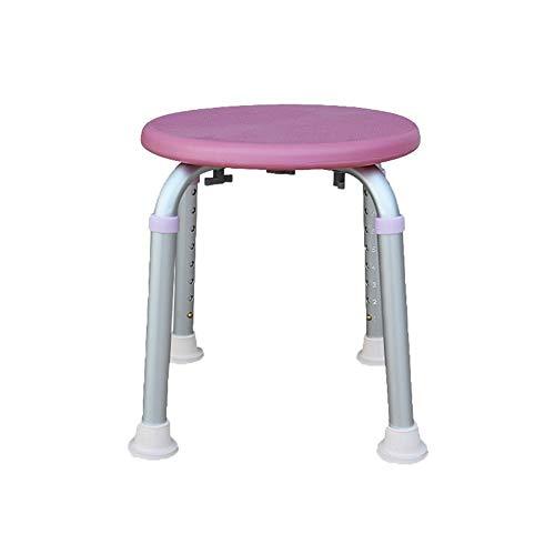 ZWH-Shower Bench Shower Stool Lightweight Aluminum Alloy The Elderly Bath Chair,Pregnant Woman Bathroom Aid Anti-Slip Chair,Height Ajustable Shower Chair