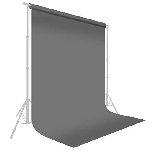 LimoStudio 10 ft. x 20 ft. Professional Photography Studio Muslin Backdrop Background Gray Muslin Backdrop Photo Screen, Photo Video Studio, AGG2330
